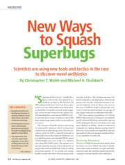 Walsh & Fischbach (2009) - New Ways to Squash Superbugs (Sci Am)