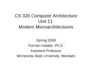 CS 320 Unit 11 Modern Microarchitectures