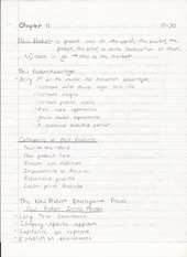 BUS ADM 322 Lecture Notes on Products and the New Product Development Process