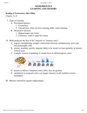 Neurobiology, Lecture 7