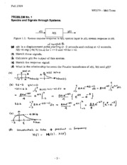 exam 2009 solutions