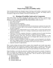 Chapter 3 Project Preparation (Feasibility study)