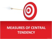 Take 6 - MEASURES OF CENTRAL TENDENCY