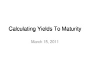 11-03-15-Calculating Yields To Maturity