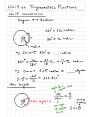 Unit on Trigonometric Functions