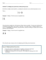 I_Section 7.2_Multiplication and Division of Rational Expressions