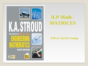 Matrices - Lecture Slides