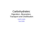 08 Carbohdrates - Digestion_Absorption_Transport_Distribution