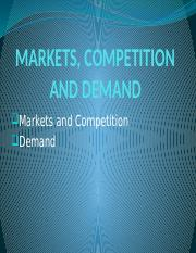 MARKETS-COMPETITION-AND-DEMAND