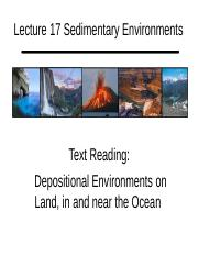Lecture 17 Sedimentary Environments Handout.pptx