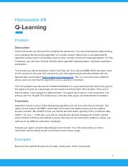 CS7642_Homework4 pdf - Homework#4 Q-Learning Problem Description In