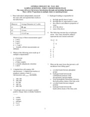 Exam 1 sample questions-1