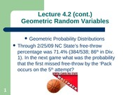 Geometric Random Variables