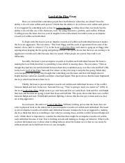 Lotf essay