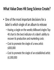 Polyphonics Case Slides - What Value Does Hit Song Science Create