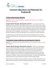Common Objections and Rebuttals for ProbioticXL.pdf