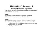 BBA111 2017.2 Essay Questions.docx