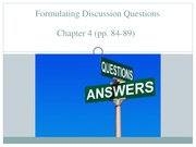 COMM 3571 - Ch. 4 (part 2) Making Discussion Questions