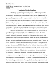 summary and response essay