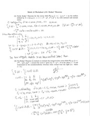 Worksheet 19 Solutions