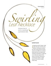 Metal - keum-boo technique - Swirling Leaf necklace torc