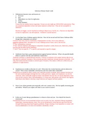ATR385 Infectious Disease study guide