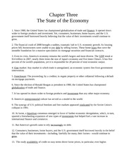 Chapter Three - The State of the Economy