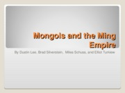 Mongols and the Ming Empire