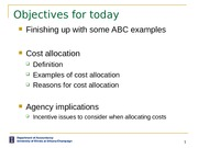 ACCY 302 Cost Allocation Lecture