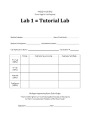 Lab #1 Cover Page