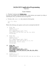 Exam 2 Solution Fall 2013