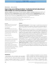 Improving prescribing practices_A pharmacist‐led educational intervention for nurse practitioner stu