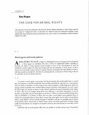 Regan, Selection from %22The Case for Animal Rights%22