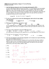 Chemical bonding worksheet part 2 answers