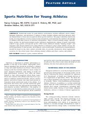 Module 1 - Cotugna et al. (2005) Sports nutrition for young athletes (1).pdf