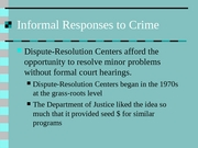 Lecture 24-Informal Responses to Crime