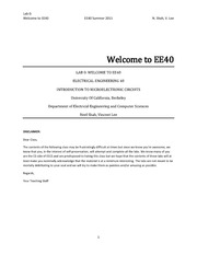 Lab 0 Welcome to EE40