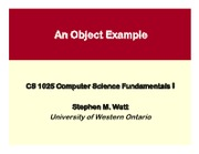 CS1025 06 -- An Object Example (1)