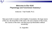 Lecture 1 - Introduction to physiology Spring 2010