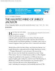 The Haunted Mind of Shirley Jackson - The New Yorker.pdf