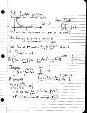 MAT 241 - Notes 7.8 Improper Integrals