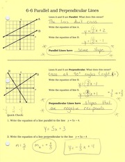 6-6 parallel and perpendicular lines