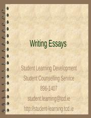 Essay-writing Workshop.ppt