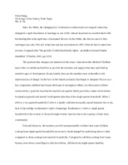 Sociology of Family, Term Paper