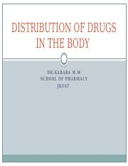 2.DISTRIBUTION OF DRUGS IN THE BODY.pptx