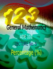 ADE Lecture---5