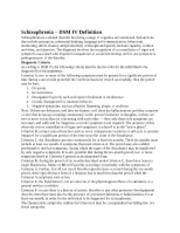 Schizophrenia_DSM-IV Definition