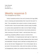 Weekly response 5 .docx