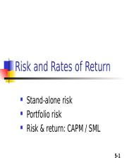 Return and Risk.ppt