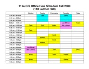 112a+Office+Hour+Schedule+Fall+2009